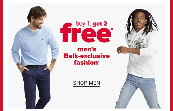 Daily Deals - Buy 1, Get 2 free men's and men's Big & Tall Belk-exclusive fashion. Shop Men.