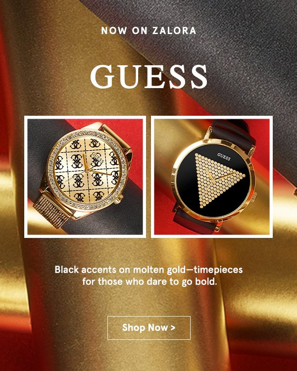 Now on ZALORA: Guess Watches