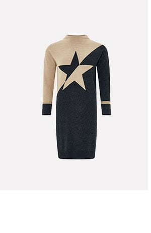 BIA BLOCK STAR KNITTED DRESS WITH ORGANIC COTTON