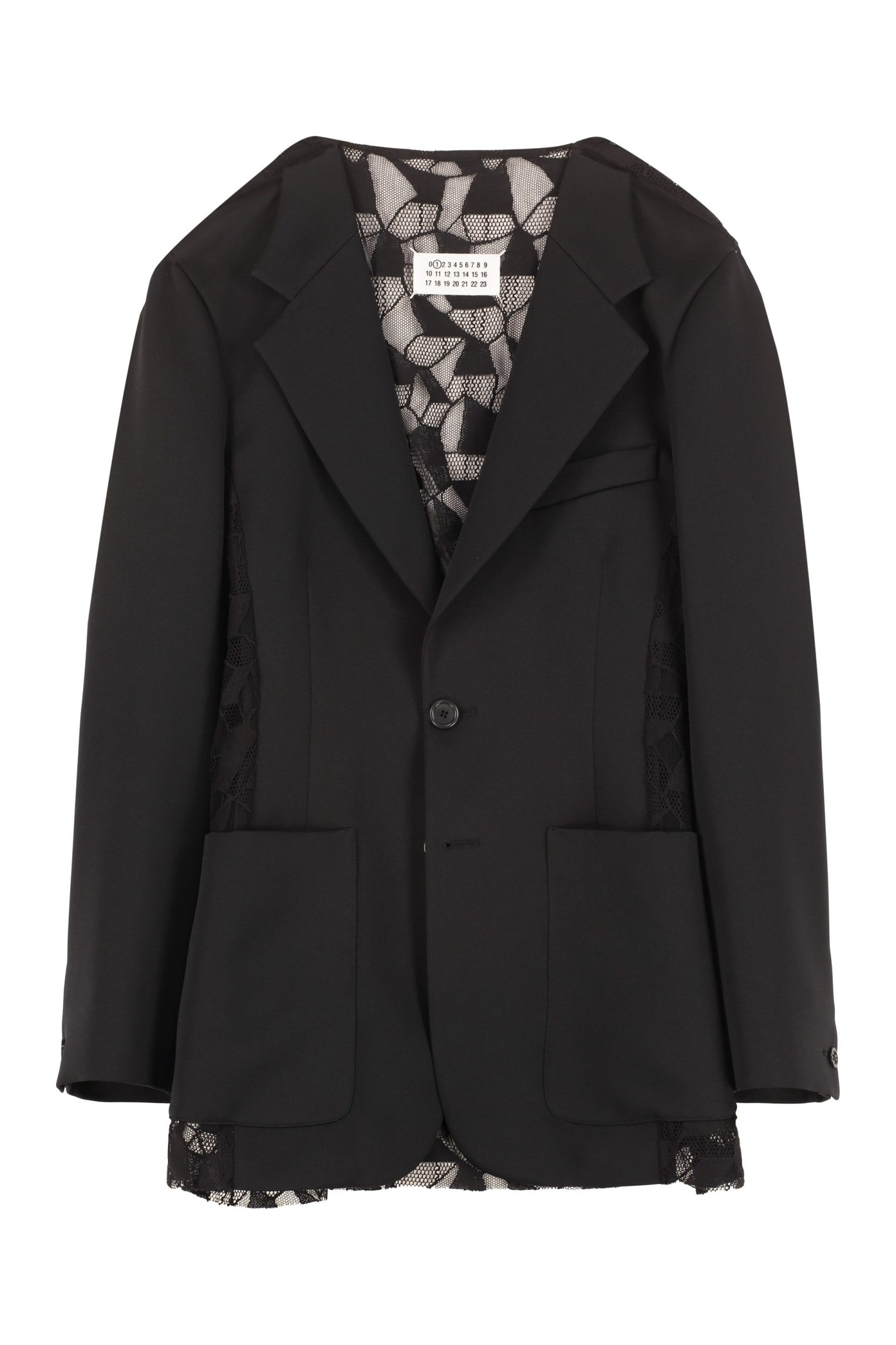 Image of Single-Breasted Two-Button Blazer