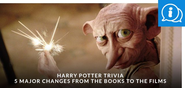 Harry Potter Trivia: 5 Major Changes from the Books to the Films