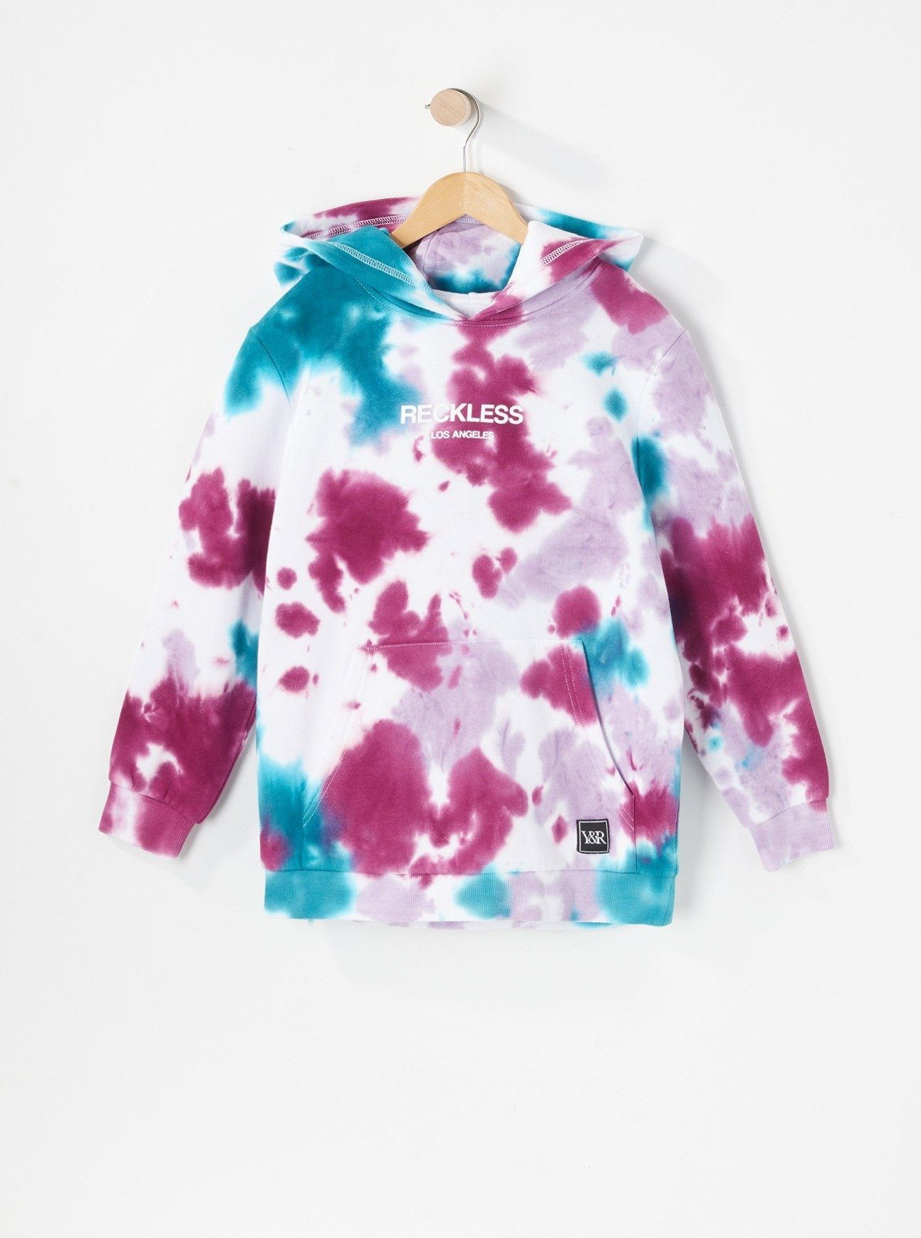 Image of Young & Reckless Youth Purple Tie-Dye Hoodie