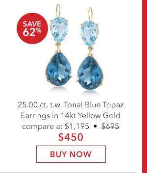 Tonal Blue Topaz Earrings. Buy Now
