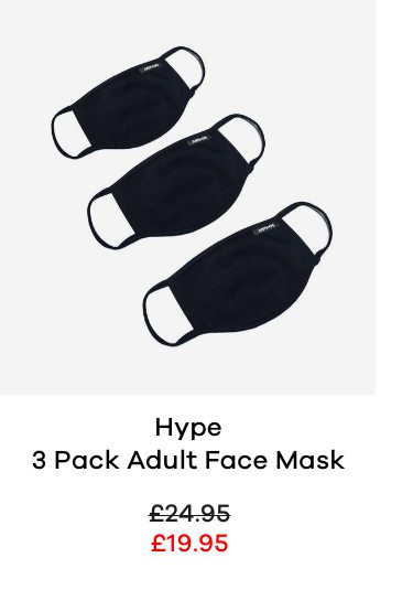 Hype 3 Pack Adult Face Mask