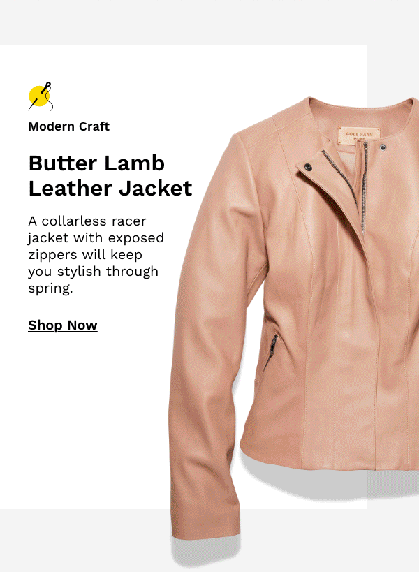 Butter Lamb Leather Jacket