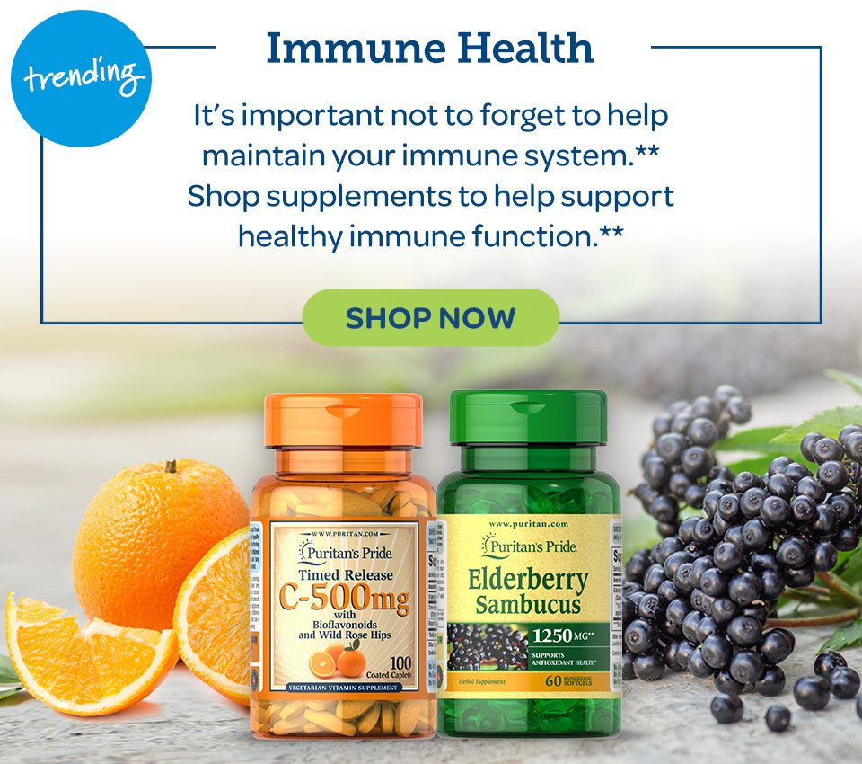 Trending. Immune Health. It's important not to forget to help maintain your immune system.** Shop supplements to help support healthy immune function.**