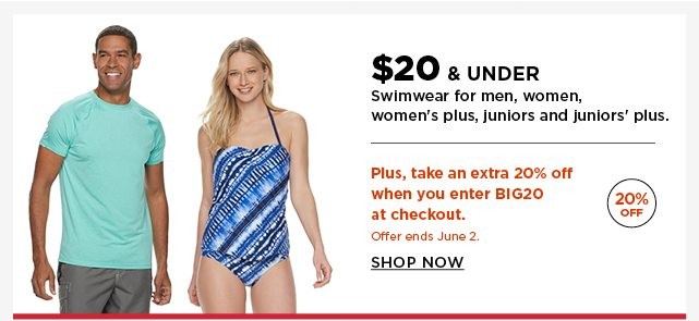 d2bca82cf834e $20 and under swimwear for men, women, women's plus, juniors, and juniors
