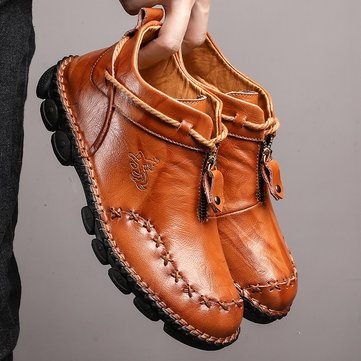 Hand Stitching Leather Boots