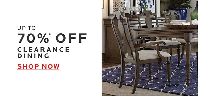 Up to 70% Off Clearance Dining