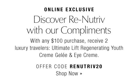Discover Re-Nutriv with our Compliments