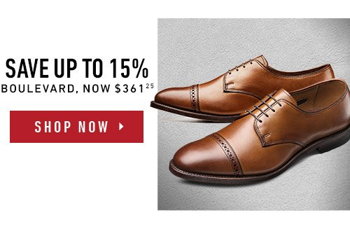 Save up to 15% on Boulevard