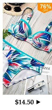Printed Underwire Swimwear Bra and Panty