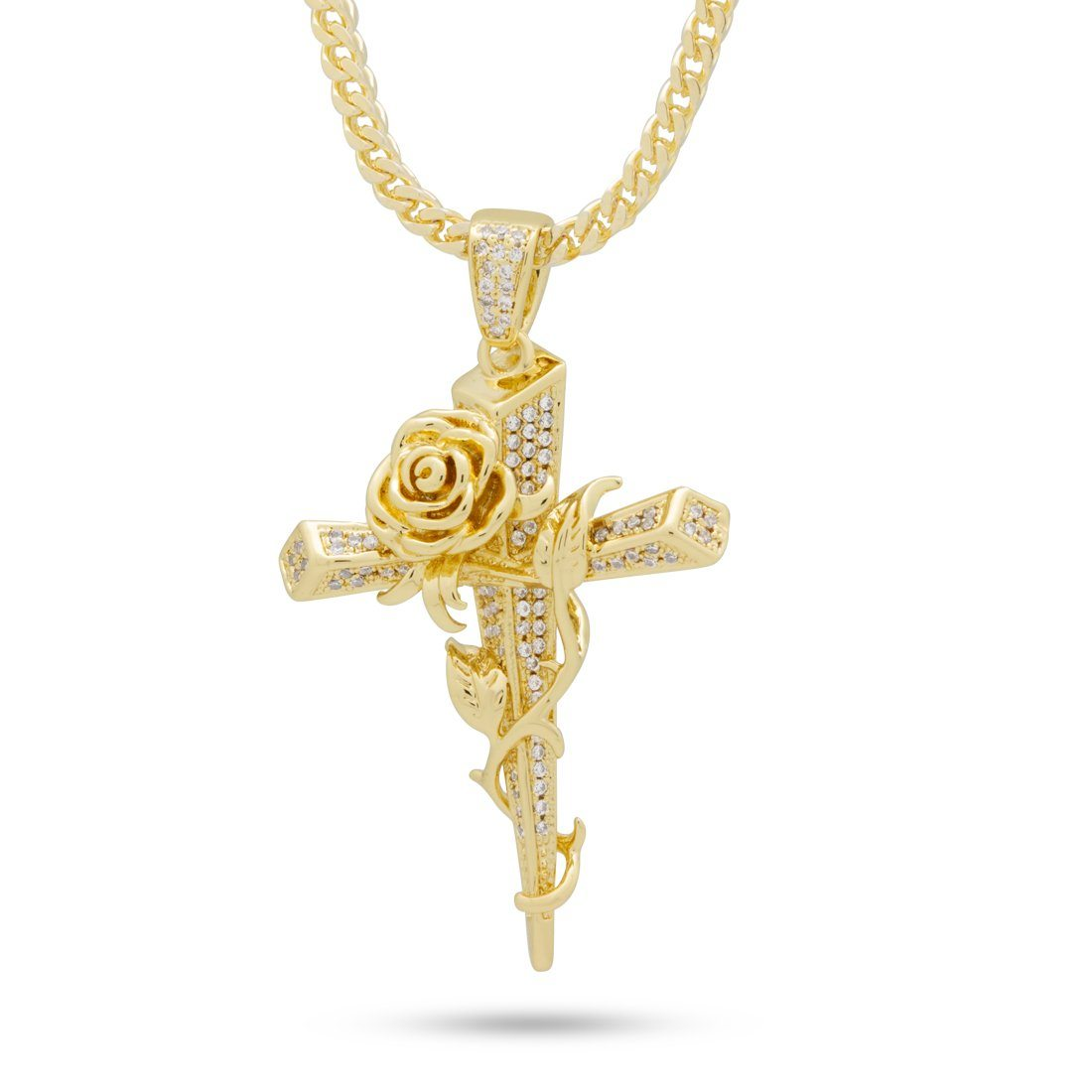 The Gold Thorned Cross Necklace