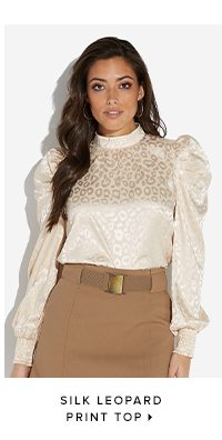 SILK LEOPARD PRINT TOP