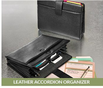 Shop the Leather Accordion Organizer