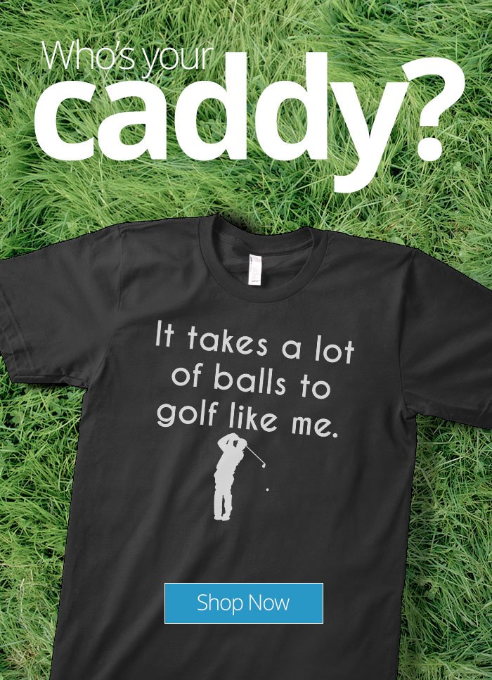 5fef39b4a Don't slice! Drive straight into 25% off Funny Golf Tees - CafePress ...