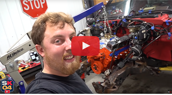 Watch Saabkyle04 Fit His New Engine and Transmission