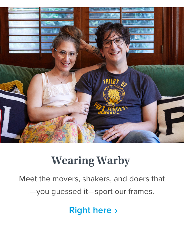 Wearing Warby