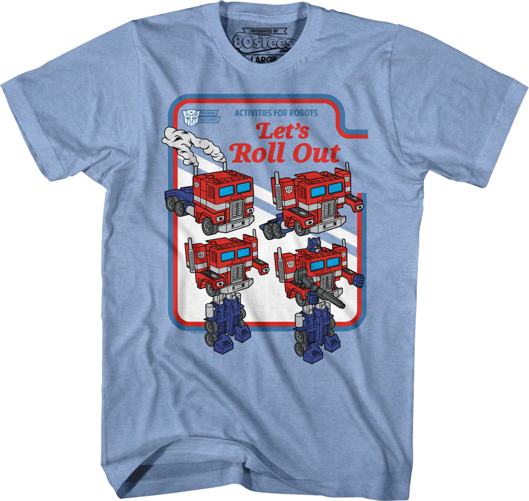 Optimus Prime Let's Roll Out Transformers T-Shirt