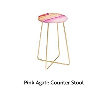 Pink Agate Counter Stool