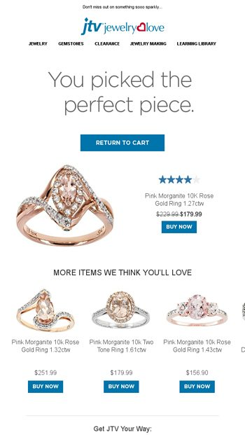 You picked the perfect piece! - Jewelry Television Email Archive