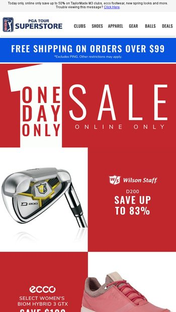 Just For Today Save Up To 50 On Taylormade M3 And More