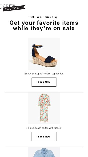 112fd1e2cff Reminder: price drop on what you viewed - J.Crew FACTORY Email Archive