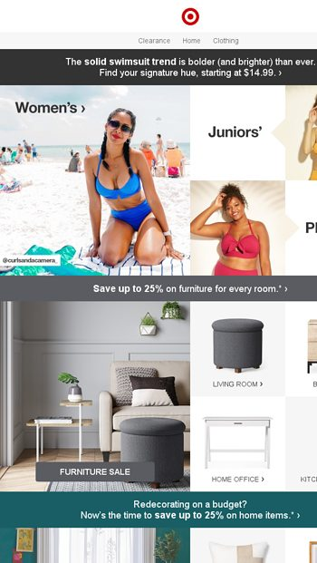 7365e2a954d6e These splashy swimsuits are one-color wonders. - Target Email Archive