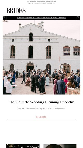 The Ultimate Wedding Planning Checklist - BRIDES Email Archive