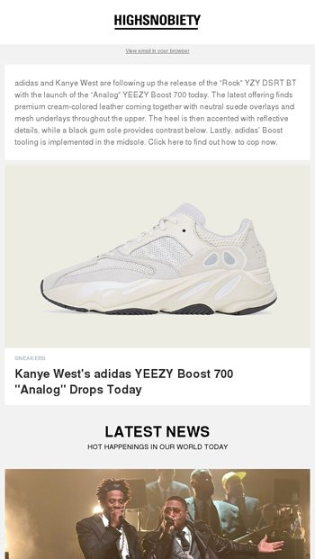 70b7ace2c61cb Kanyersquos adidas YEEZY Boost 700 ldquoAnalogrdquo is about to drop