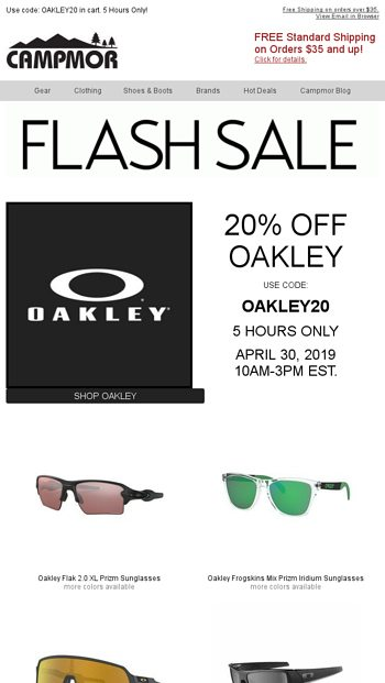 Archive SaleCampmor 20Off Oakley Email Flash gY6mbfI7yv