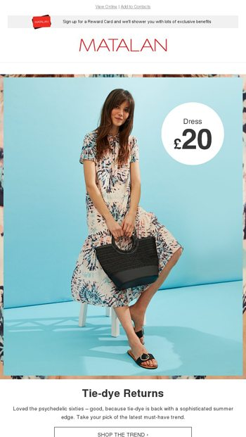 ab2ca61bdb276 Tie dye is back! - Matalan Email Archive
