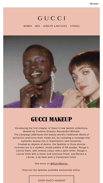 9b491c837 Introducing Gucci Makeup - Gucci Email Archive