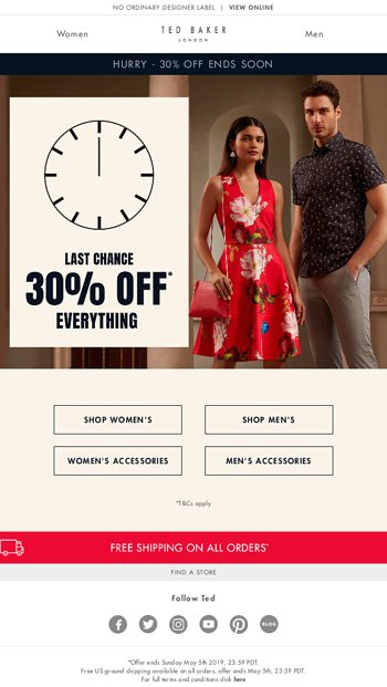 953587816d03 Have you enjoyed 30% off yet  - Ted Baker London Email Archive