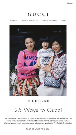 beb511cb459 25 Ways to Gucci  The Shanghai Story - Gucci Email Archive
