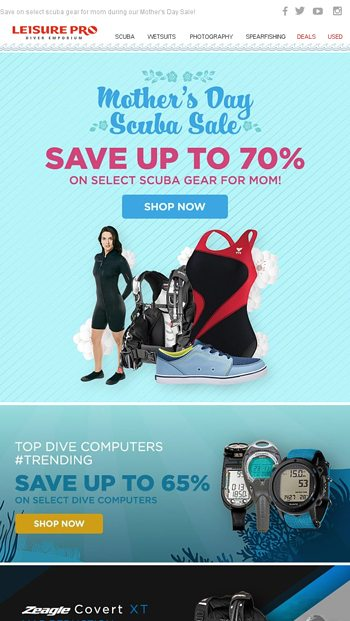 f5f4c9568e4 Holiday Gift Guides & FREE SHIPPING - LeisurePro Email Archive