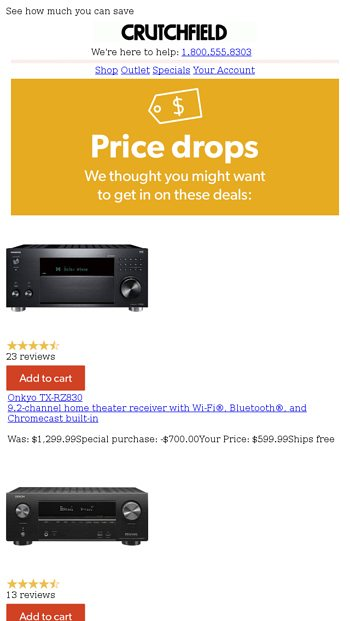 Save up to $600 on home theater receivers - Crutchfield