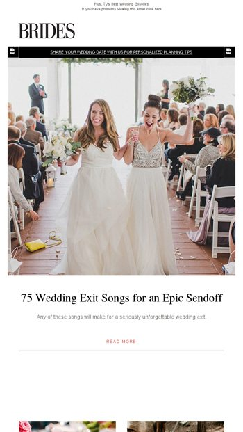 75 Wedding Exit Songs For An Epic Sendoff Brides Email Archive