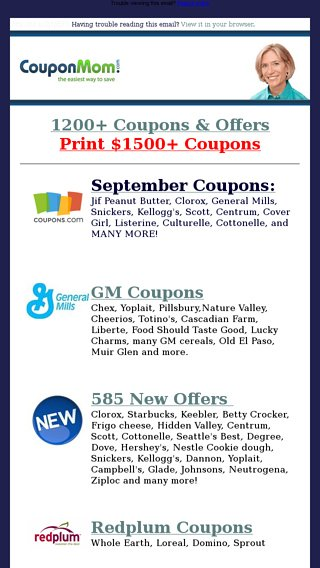 585 new printables free tide kelloggs heinz barilla more coupon mom email archive