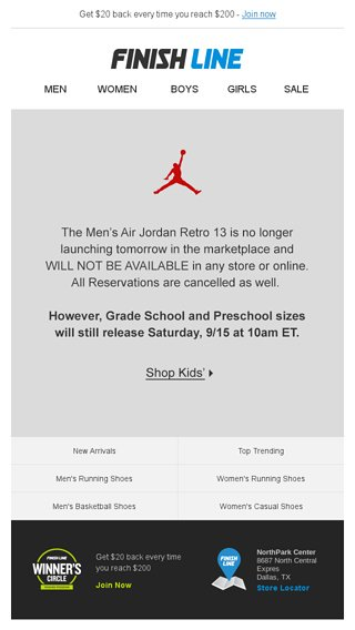 Men s Air Jordan Retro 13 has been cancelled. 8d145ac65