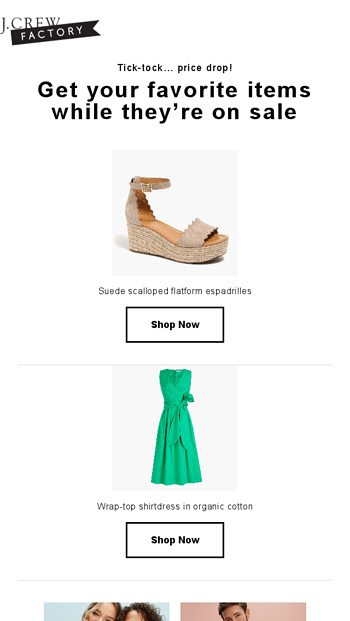 dee0c73c80d Reminder: price drop on what you viewed - J.Crew Email Archive