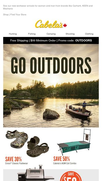 TODAY ONLY: Free Shipping On EVERYTHING - Cabela's Canada