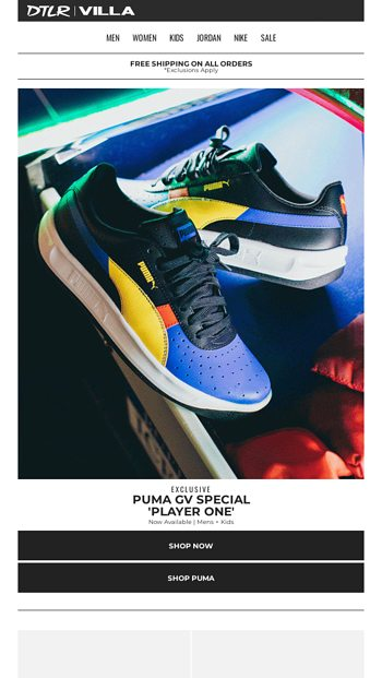 Ready 'Player One' ???? Exclusive Puma GV Special - DTLR Email Archive