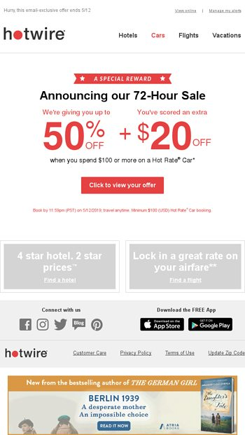hotwire car rental promo code may 2019