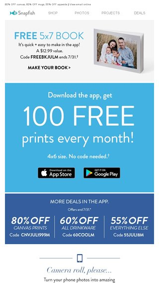 emailtuna you have 1 free book 100 free prints waiting for you
