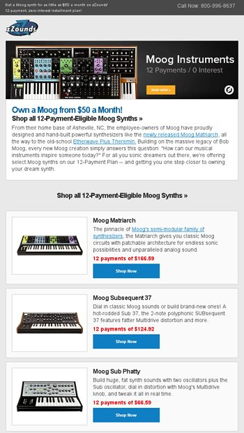 Get Moog's Whole Mother for $50 a Month! - zZounds News