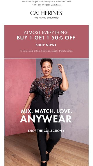 Mix  Match  Love     B1G1 50% Off! - Catherines Email Archive