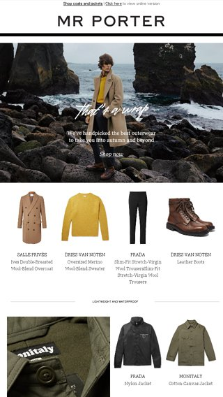 All change  the wisest investment you ll make for the new season - MR PORTER  Email Archive 87a991246