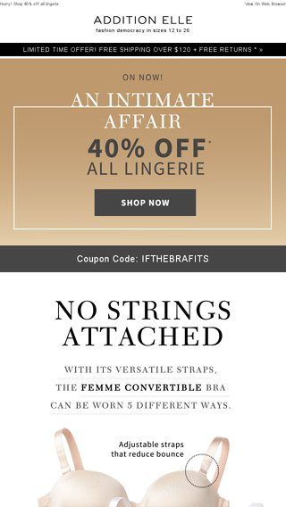No strings affairs offer code