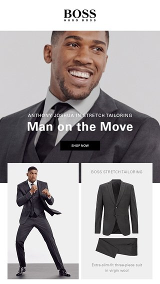 c743855d Anthony Joshua is a Man on the Move. Sep 15. Introducing the Washable Suit